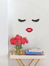 Eyelash Lips Wall Decals