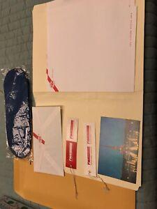 Vintage TWA Envelope, Paper, Postcard, 2 Luggage Tags & Socks