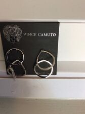 Vince Camuto Silver-tone Set 4 Rings Size 4 6 7 8 Super Fine With Tassle