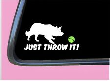 """Just Throw It Border Collie TP 526 vinyl 6"""" Decal Sticker dog flyball agility"""