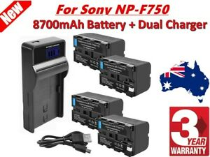 8700mAh NP-F960 Battery / LCD Charger For Sony NP-F970 NP-F950 NP-F770 Camera EG