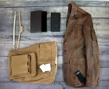 3pc Lot Iceberg Leather Jacket 50 M Dunhill Wallet Brunello Cucinelli Joggers 34