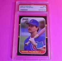 1987 Donruss #43 Rafael Palmeiro Rated Rookie PSA 9 Mint Condition Texas Rangers