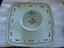 Vintage Mid Century Georges Briard Victorian Garden Chip Dip Serving Platter