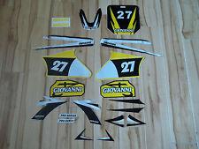 gio dirt bike 125cc sticker kit (yellow)