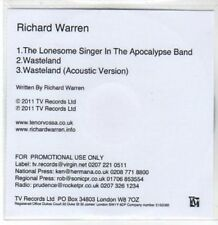 (BY337) Richard Warren, The Lonesome Singer in the Apocalypse Band - DJ CD