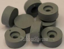 19mm Dia GREY Rubber screw-on buffer  Pack of 8