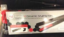 KQC Turbo 2 Tourmaline Ceramic Flat Iron BONUS Kqc Shine Spray+Mini Flat iron