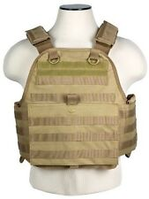 MOLLE PALS CHEST RIG BODY ARMOR * PLATE CARRIER ONLY * TACTICAL VEST TAN BROWN