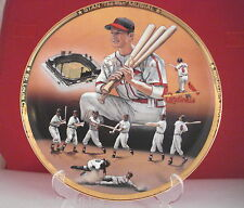 Stan Musial  Limited Edition Plate by Sports Impressions Signed