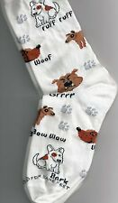 Doggy Talk Socks Medium - Ruff Bow Wow - Great Deal NWT