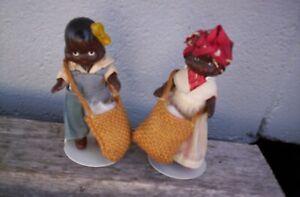 Vintage Black Americana Doll Porcelain Bisque Japan New Orleans Souvenir 3 1/2''