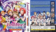 DVD Love Live! School Idol Project Season 1+2 + Movie + Sunshine + Free shipping