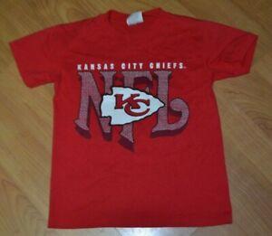 VTG 80s 90s Kansas City Chiefs Youth Medium 10-12 T Shirt 50.50 Nice NFL