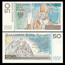 Poland 50 Zlotych, 2006, P-178, in Folder, COMM. UNC > John Paul II