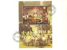 ABKHAZIA 1996 KOREA SCOUT JAMBOREE Foxhunt DOGS PLAYING POKER Minisheet FDC