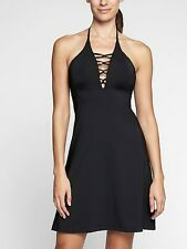 Athleta Loop Swim Dress in Black NWT $69 S