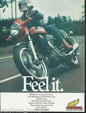 1978 HONDA CX500 motorcycle advertisement, British advert, V-Twin engine