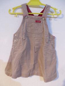 H&M L.O.G.G. ° hübscher Latzrock Gr. 80 braun Cord Baby Mädchen Kleidung Rock