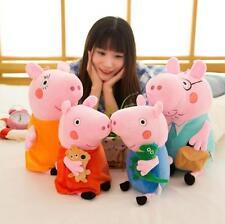 "4Pcs Peppa Pig Family Plush Doll Stuffed Toy 15"" DADDY MOMMY 9"" PEPPA Gift"