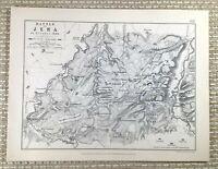 1855 Antik Militär Landkarte Die Kampf Von Jena 1806 Napoleon Wars Krieg