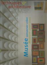 Techniques et Architecture 482 - MUSEE CONSERVER ET CREER + PARIS POSTER GUIDE