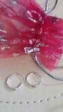 Girls Ladies 925   Silver 10mm Small Sleepers Hinged Hoop Earrings + Gift Bag