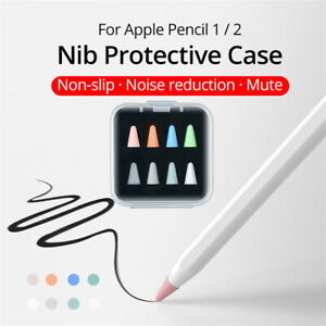 For Apple Pencil 1st/2nd Nib Cover Silicone Pen Tip Case Protection Anti-slip 8x