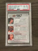 2009-10 Upper Deck Draft Edition Rubio/Flynn Steph Curry Draft Class PSA 8 #RFC
