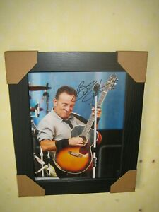 Bruce Springsteen Excellent Signed Photo {8x10} In A Lovely Black Frame + CoA