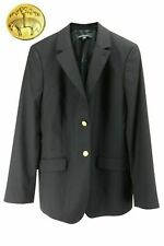 Brooks Brothers Women's 346 Collection Navy Blue Gold Button Blazer Size 16