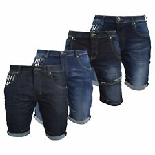 Mens Denim Short  Summer Firetrap Knee Length Jeans Short