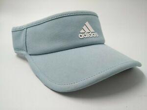 Adidas Climalite Visor Hat Sun Cap Light Blue Jogging Running Outdoor Golf