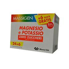 Massigen magnesio e potassio Zero Zuccheri 24+6 buste mono dose 6g