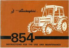 Lamborghini Tractor 854 Operators Manual