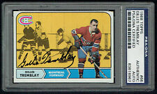 Gilles Tremblay #66 signed autograph auto 1968 Topps Hockey Card PSA Slabbed