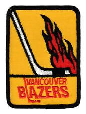 "1973-75 VANCOUVER BLAZERS WHA HOCKEY VINTAGE 3.75"" DEFUNCT TEAM PATCH"