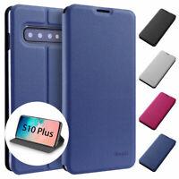 Flip Case Samsung S10 Plus Magnet Cover Aufstellbar Ständer Hülle Schale Folie