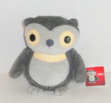 New Kohls Cares for Kids Gray Owl Plush Aesops Fables Yellow NWT P88