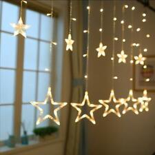 LED Lichterkette aussen warmweiß Sterne Lichtervorhang Weihnachten lichternetz