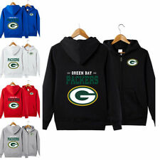 Green Bay Packers Sports Hoodies Zip-up Sweatshirt Hooded Coat Jacket Fan's Gift