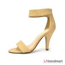 Women Open Toe Dress Sandal Fastener Strap High Heel Shoe Delicious Rosela Size8