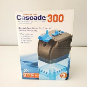 Cascade 300 Internal Aquarium Filter- Up to 10 Gallons (70 GPH) Submersible NEW