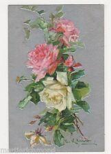 C. Klein, Flowers, Roses, Birn Bros. 2103 Embossed Postcard, B484