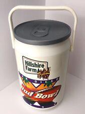 Vintage Budweiser Bud Bowl Beer Can Cooler 1990's San Diego Hillshire Farm 1998