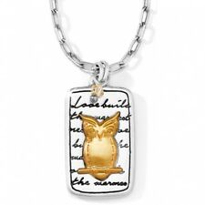 NWT Brighton NATURE'S WISDOM OWL Necklace Gold Love Builds Warmest Nest MSRP $42