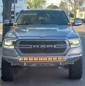 2019 2020 2021 RAM 1500 M&R LED HOOD MOUNT 80w Kit WITH AMBER DRL