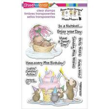 STAMPENDOUS HOUSE MOUSE DESIGNS HAPPY HOPPERS MICE WISHES