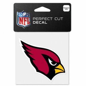 "Arizona Cardinals Football 4"" x 4"" Full Color Logo 4x4 Die Cut Decal"