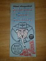 Colonel Horsepasture's Guide Book & Dixie Dictionary vintage booklet